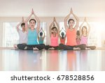young woman practicing yoga... | Shutterstock . vector #678528856