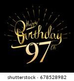 97th happy birthday logo....