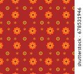 red sindhi ajrak pattern ... | Shutterstock .eps vector #678531946