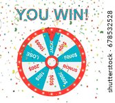 wheel of fortune. jackpot. win. ... | Shutterstock .eps vector #678532528