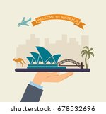 the hand holds the sights of... | Shutterstock .eps vector #678532696