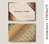 gold business card with... | Shutterstock .eps vector #678536275