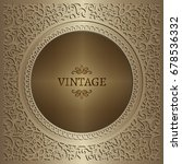 vintage gold background ... | Shutterstock .eps vector #678536332