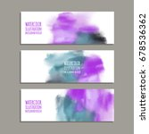 vector banner shapes collection ... | Shutterstock .eps vector #678536362