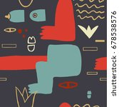 abstract modern art naked woman ... | Shutterstock .eps vector #678538576