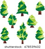 polygon pine clip art | Shutterstock .eps vector #678539632