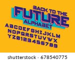 vector of modern colorful font... | Shutterstock .eps vector #678540775