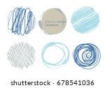 set of 6 different scribble... | Shutterstock .eps vector #678541036