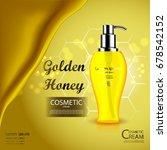 luxury cosmetic bottle package... | Shutterstock .eps vector #678542152