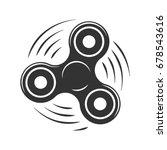 silhouette symbol twisting... | Shutterstock .eps vector #678543616