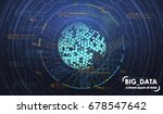 big data abstract visualization.... | Shutterstock .eps vector #678547642