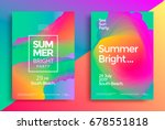 summer bright party poster.... | Shutterstock .eps vector #678551818