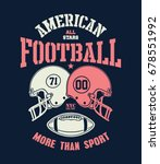 football helmet stylized vector ... | Shutterstock .eps vector #678551992