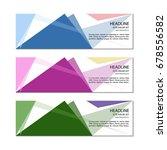 banner template. vector. | Shutterstock .eps vector #678556582