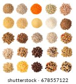 cereals set isolated on white... | Shutterstock . vector #678557122