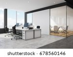 corner of a white and black... | Shutterstock . vector #678560146