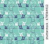 Sheep Pattern. Ewe Ornament....