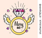 diamond ring vector marry... | Shutterstock .eps vector #678564448