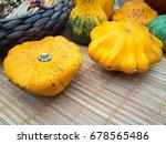 autumn composition of pumpkins  | Shutterstock . vector #678565486