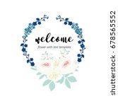 welcome word hand drawn with... | Shutterstock .eps vector #678565552