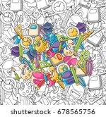 school elements clip art doodle ... | Shutterstock .eps vector #678565756