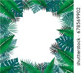tropical leaves background ... | Shutterstock .eps vector #678569902