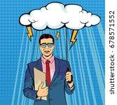 unlucky businessman standing... | Shutterstock .eps vector #678571552