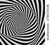 tunnel. optical illusion. black ... | Shutterstock .eps vector #678572038