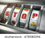 stop gambling addiction concept....