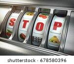 stop gambling addiction concept....