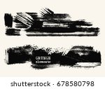 vector set of black brush... | Shutterstock .eps vector #678580798