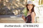 young attractive cheerful woman ...   Shutterstock . vector #678586192