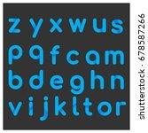 blue albhabetic letters on... | Shutterstock .eps vector #678587266