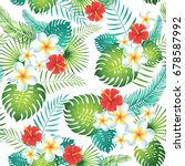 tropical seamless pattern with... | Shutterstock .eps vector #678587992