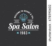 spa salon logo design. vector... | Shutterstock .eps vector #678590602