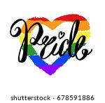 pride word custom lettering... | Shutterstock .eps vector #678591886