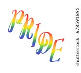 pride. rainbow word isolated on ...   Shutterstock .eps vector #678591892