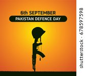 6th septermber. happy defence... | Shutterstock .eps vector #678597598