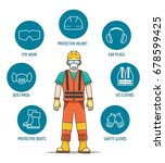 protective and safety equipment ... | Shutterstock .eps vector #678599425