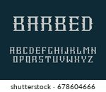 vector font and alphabet. | Shutterstock .eps vector #678604666