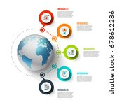 vector infographics global... | Shutterstock .eps vector #678612286