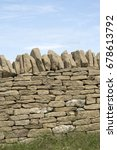 Small photo of Stone Wall, Broadway- Worcestershire; England; UK