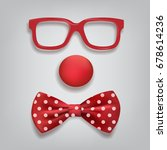 Clown Accessories Isolated On...
