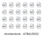 documents file format icon line | Shutterstock .eps vector #678615022