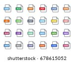 documents file format icon... | Shutterstock .eps vector #678615052