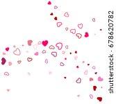 heart confetti vector pattern.... | Shutterstock .eps vector #678620782