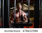brutal strong athletic men... | Shutterstock . vector #678622588
