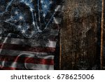 usa flag on a wood surface   Shutterstock . vector #678625006