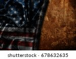 usa flag vintage background | Shutterstock . vector #678632635