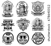 vintage beer drink bar vector... | Shutterstock .eps vector #678640312